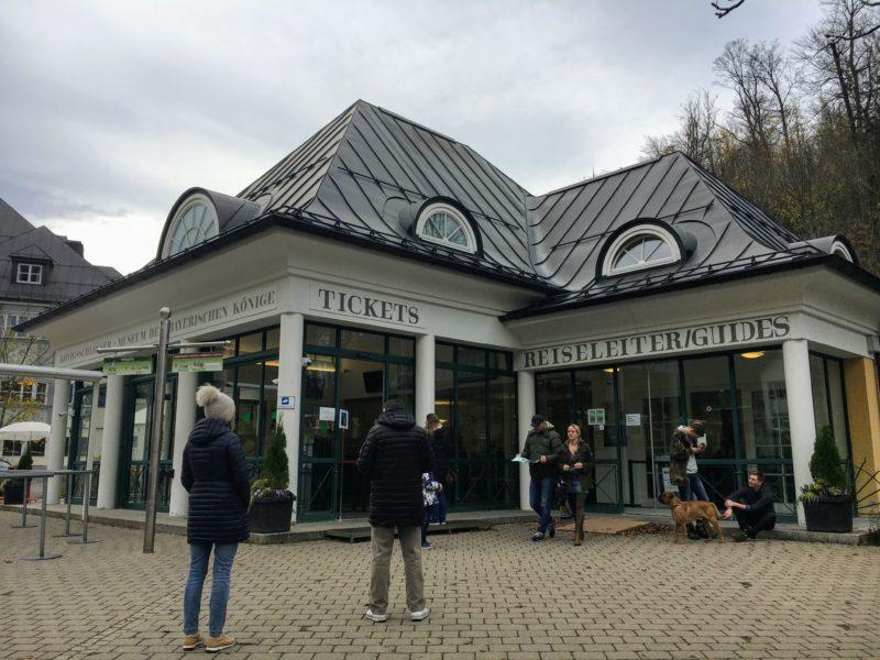 ノイシュヴァンシュタイン城のチケット売り場
