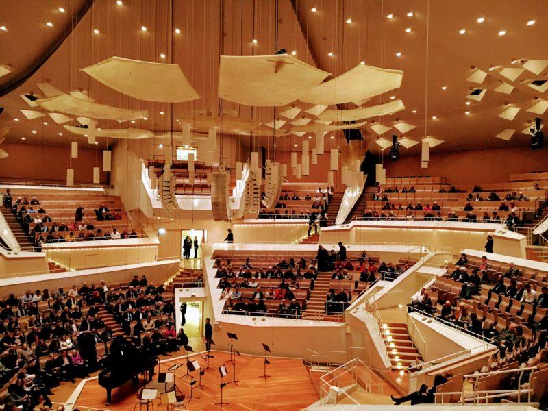 ベルリンフィルハーモニーのコンサートホール内部