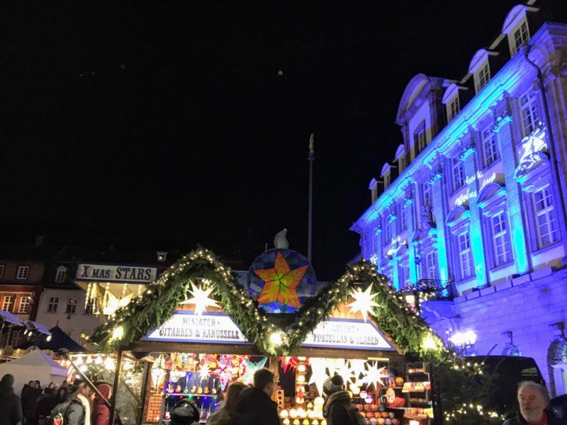 ハイデルベルク市庁舎のライトアップ
