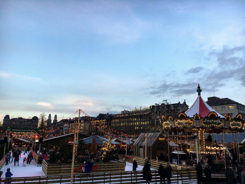 チューリッヒのクリスマスマーケット