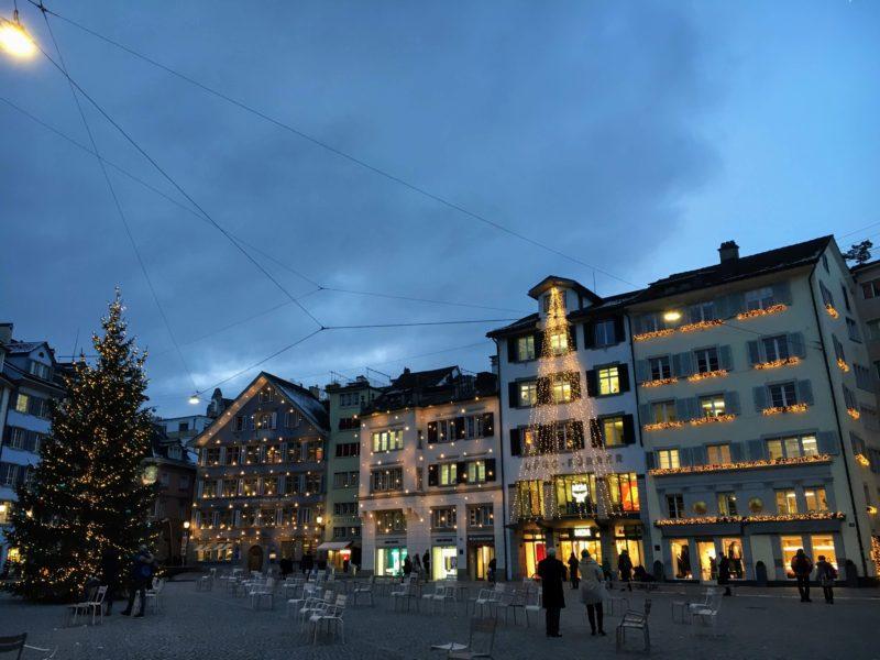 チューリッヒのクリスマスイルミネーション
