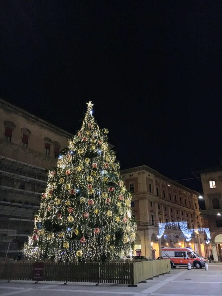 ボローニャのクリスマスツリー
