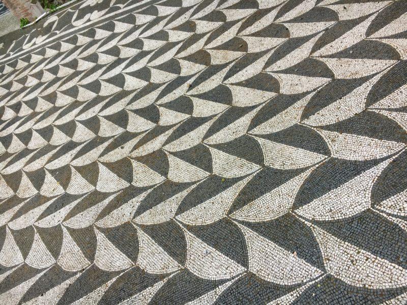 カラカラ浴場のモザイクタイル