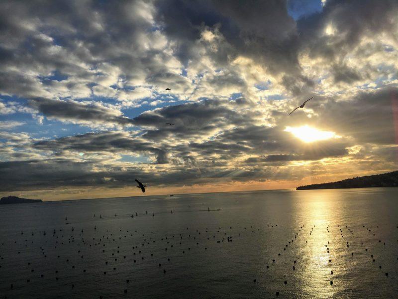卵城から見る夕日