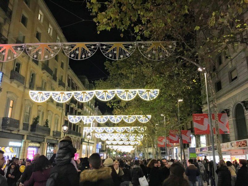 バルセロナのクリスマスイルミネーション