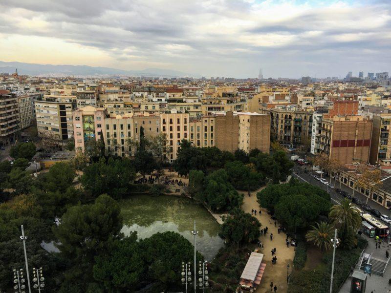 サグラダファミリアの塔からの景色