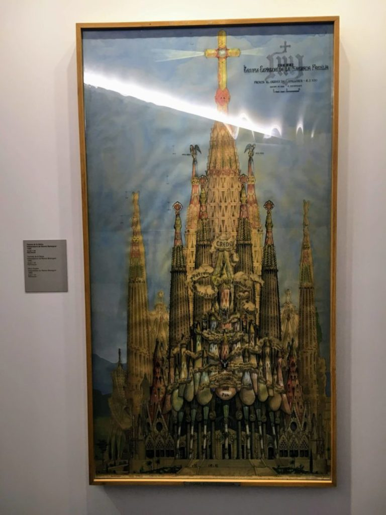 ガウディ博物館内の完成図