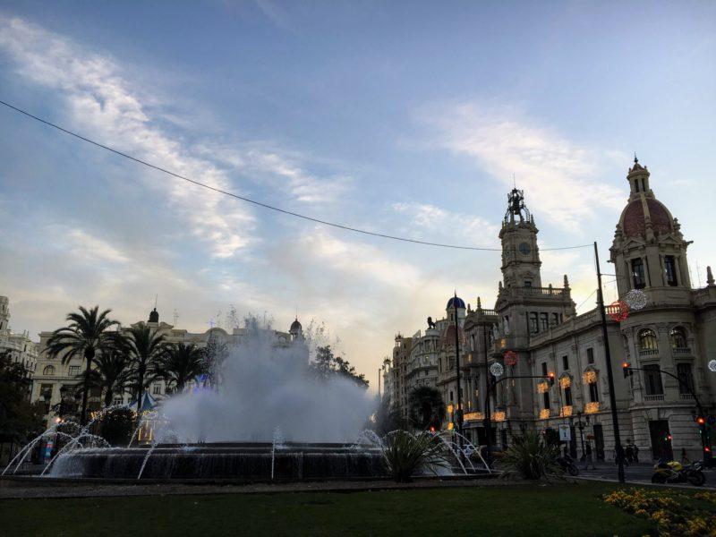 バレンシアの市庁舎広場