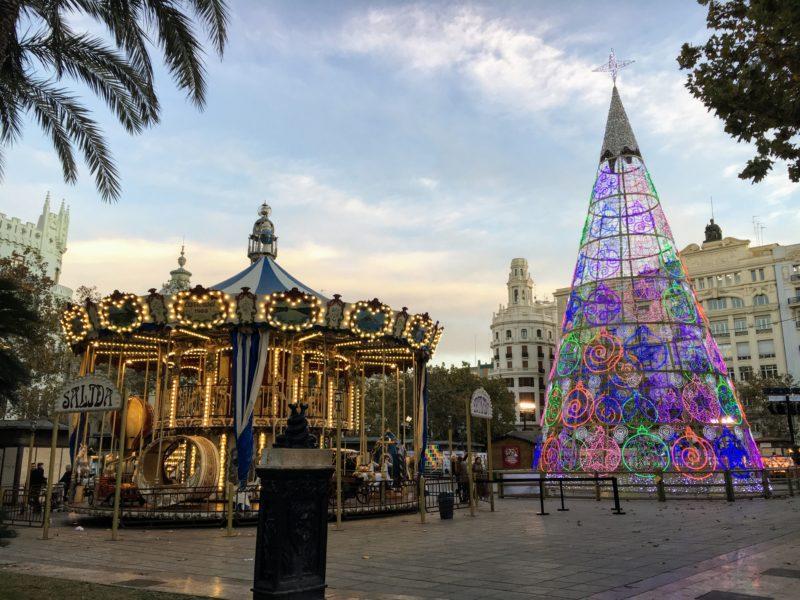 バレンシアのクリスマスイルミネーション