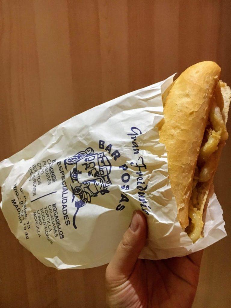 イカリングのサンドイッチ