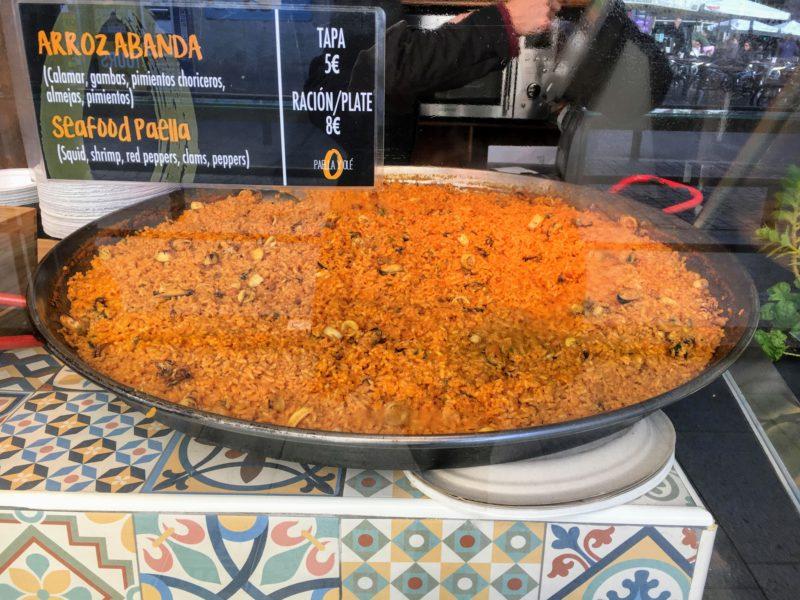サン・ミゲル市場のパエリア