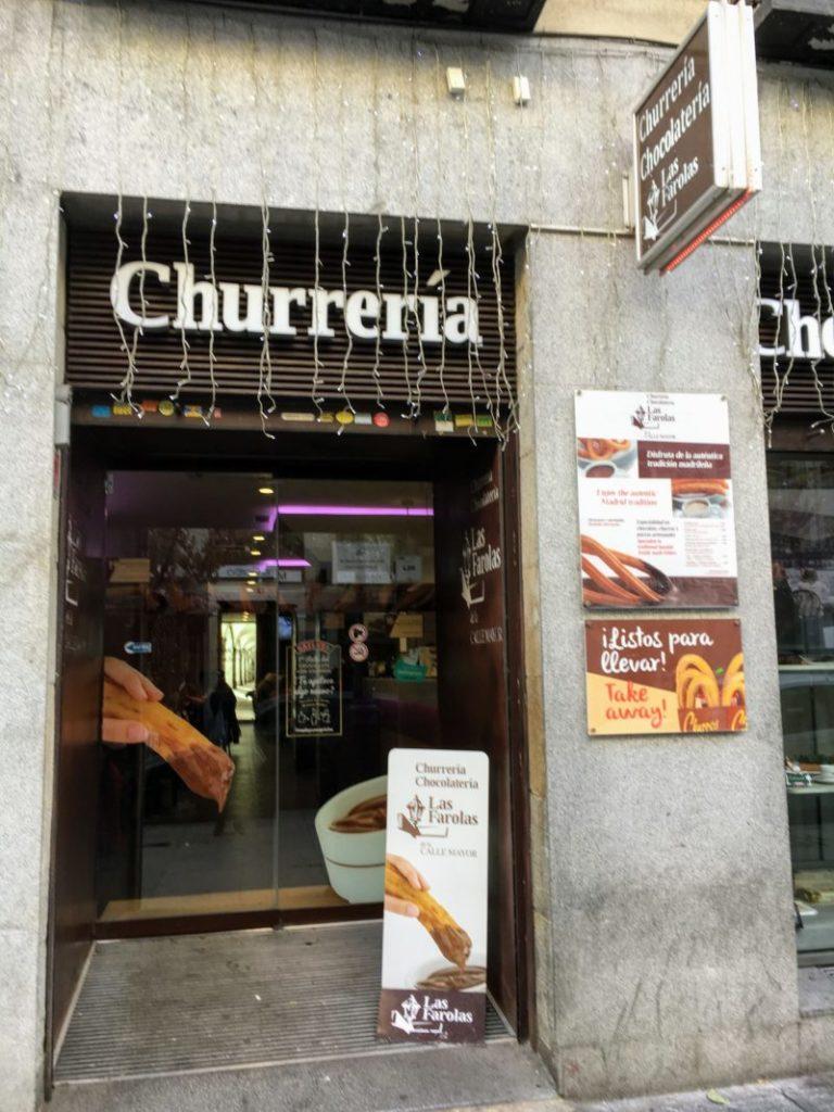 マドリードのホットチョコレート屋さん