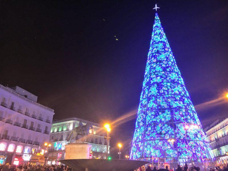 マドリードのクリスマスツリー