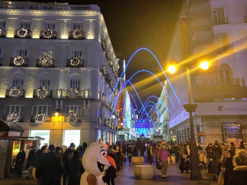 マドリードの街の装飾