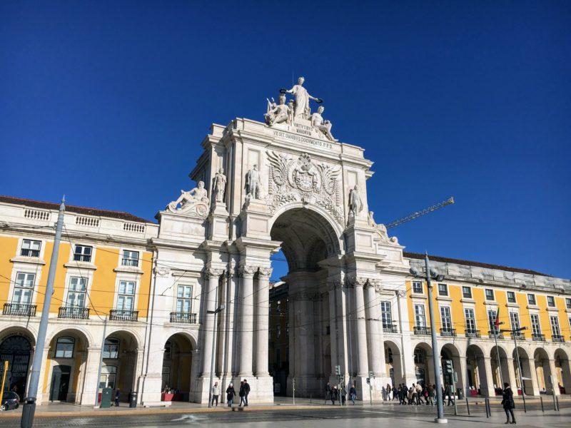 リスボンのアルコ・ダ・ルア・アウグスタ凱旋門