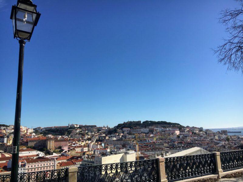 サン・ペドロ・デ・アルカンタラ展望台からの景色