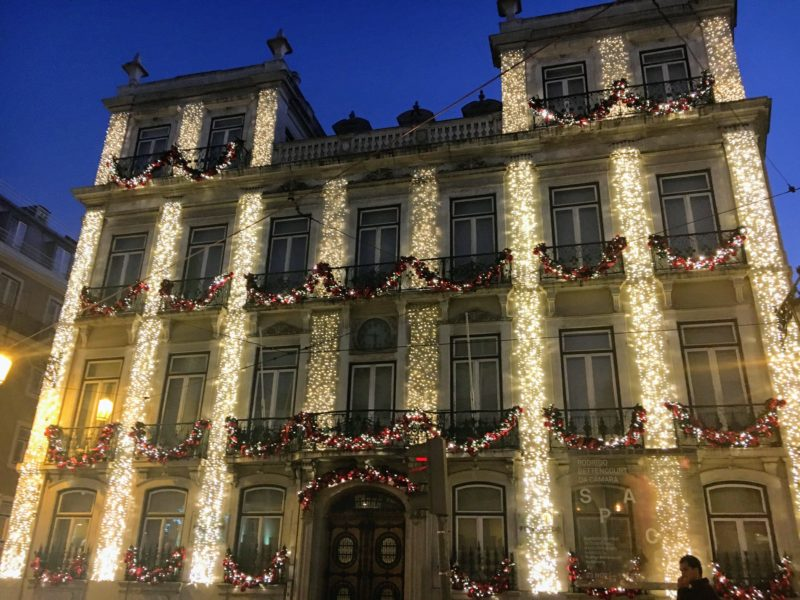 リスボンの建物の飾り