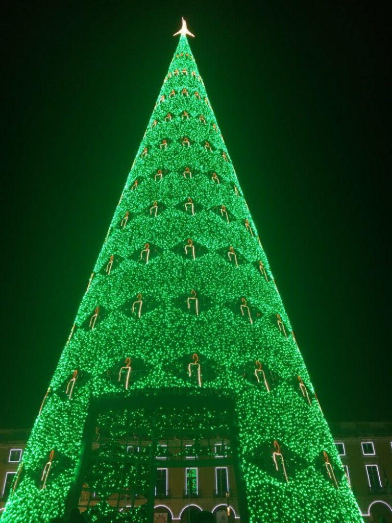 コルメシオ広場のクリスマスツリー