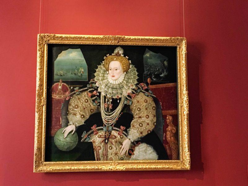 クイーンズハウス内のエリザベス1世の画