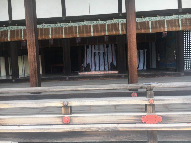 京都御所の清涼殿にある昼御座