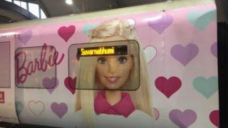 スワンナプーム国際空港のバービーの電車