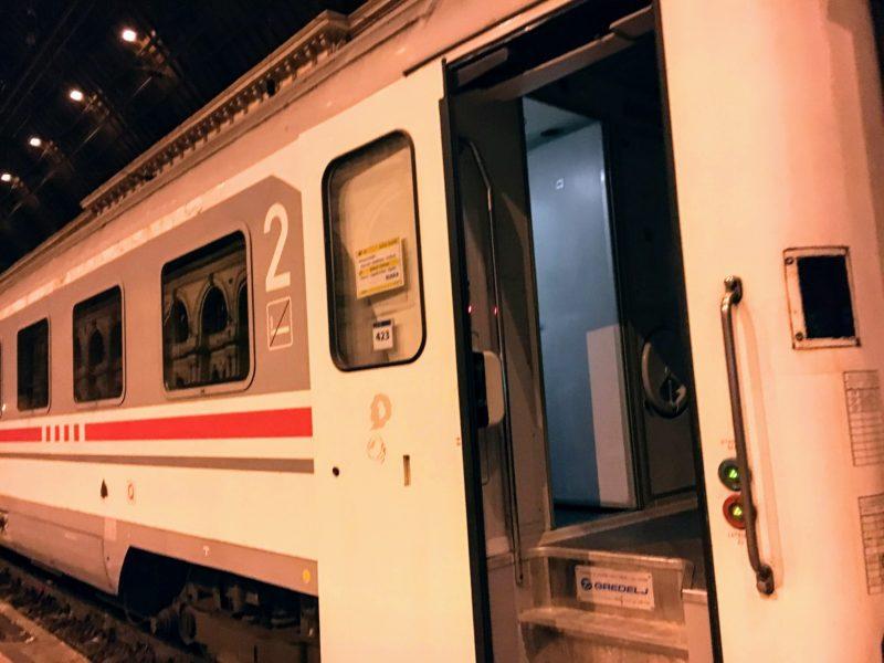ブダペストからザグレブまでの電車