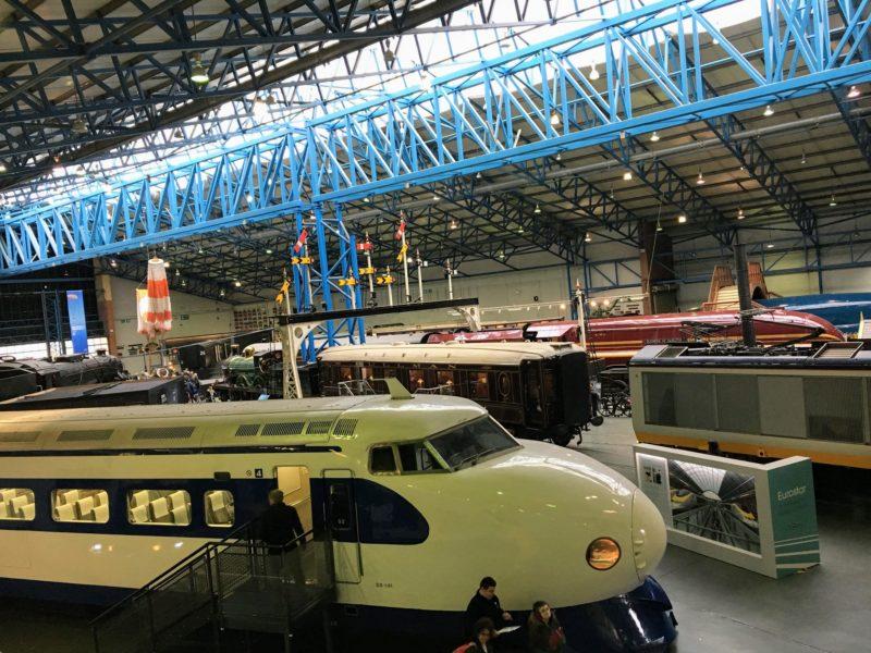 イギリス国立鉄道博物館内の新幹線