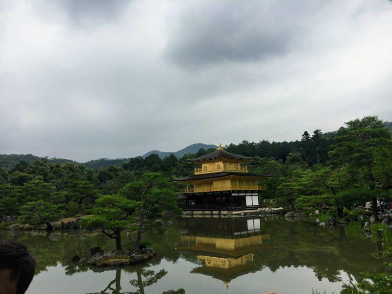 金閣鹿苑寺の庭園