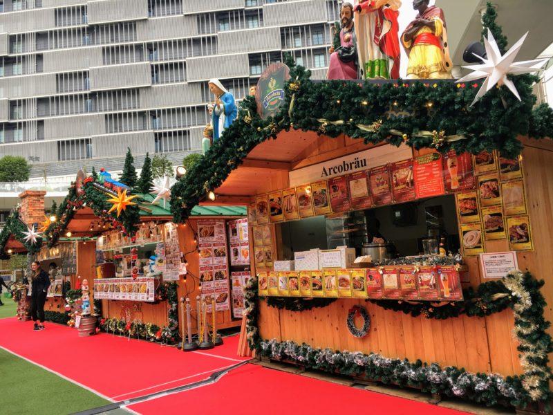 ラゾーナ川崎クリスマスマーケットのヒュッテ