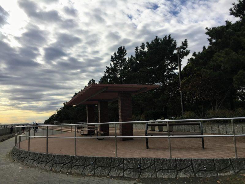 都立城南島海浜公園の休憩所