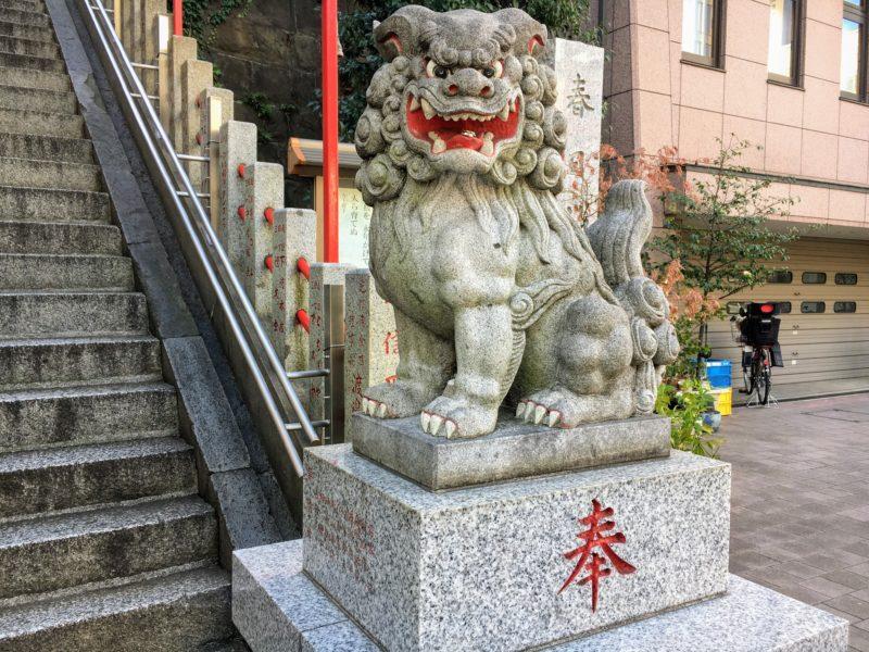 三田春日神社の獅子