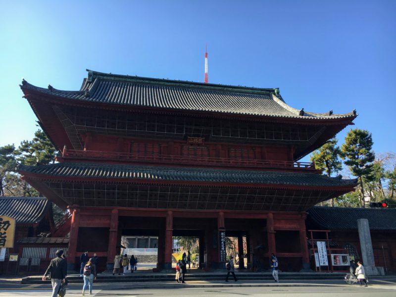 増上寺の三解脱門(三門)
