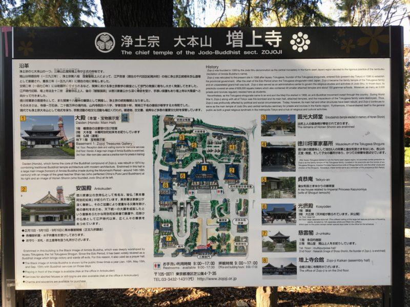 増上寺の見取り図