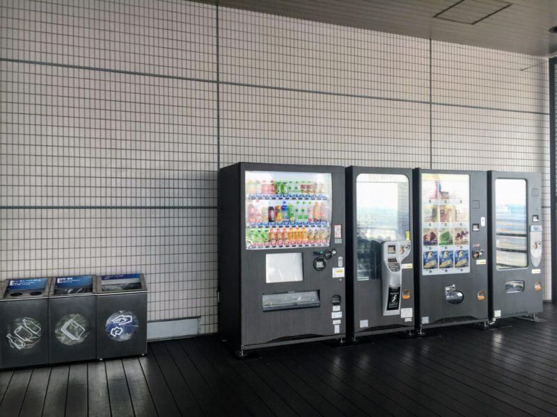 6Fの展望デッキの自動販売機
