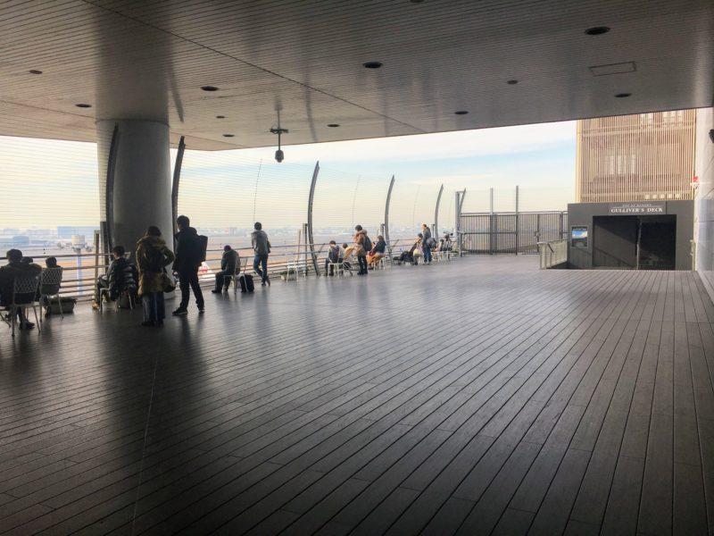 羽田空港6Fの展望デッキ