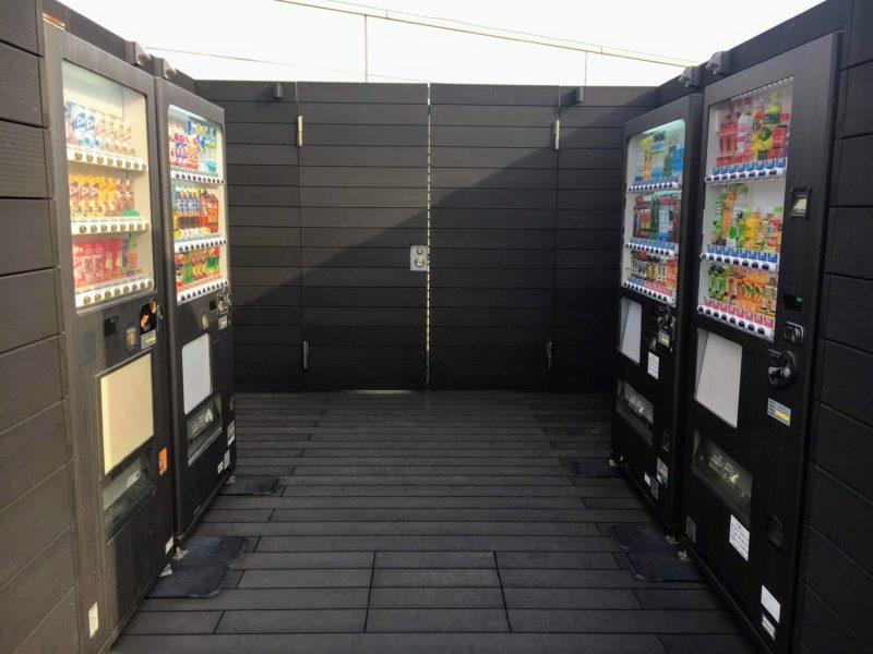 羽田空港屋上の自動販売機