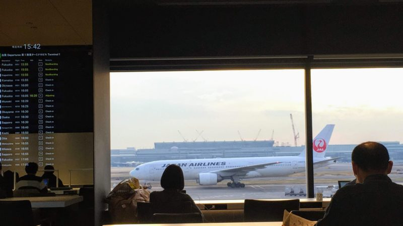 パワーラウンジノースの飛行機を眺められる特等席