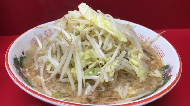 ラーメン二郎京急川崎店の小ラーメン野菜ニンニク増し
