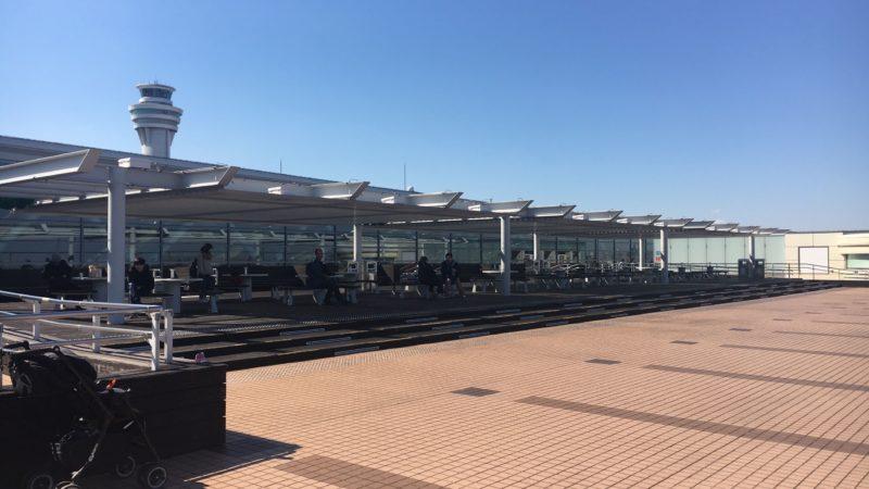 羽田空港第2ターミナルの展望デッキ