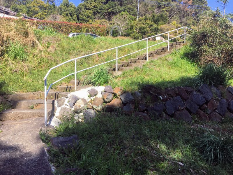 石岳展望台へ道の階段