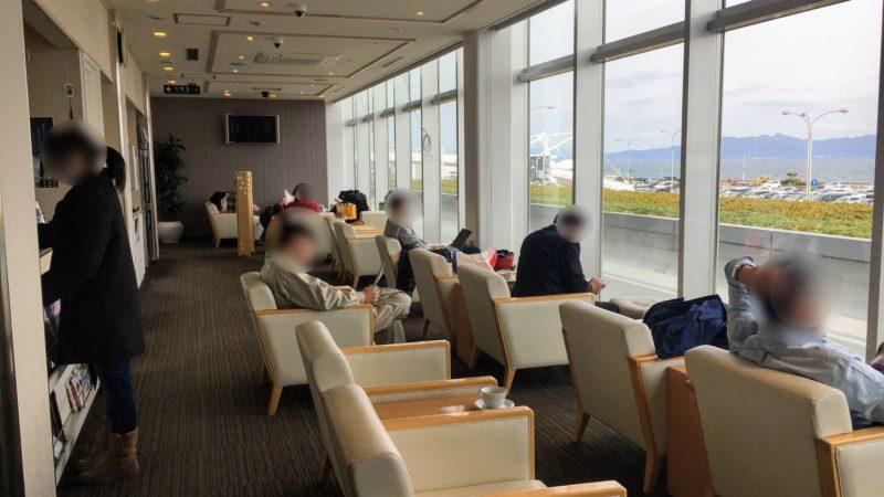 長崎空港ラウンジ(アザレア)の利用スペース