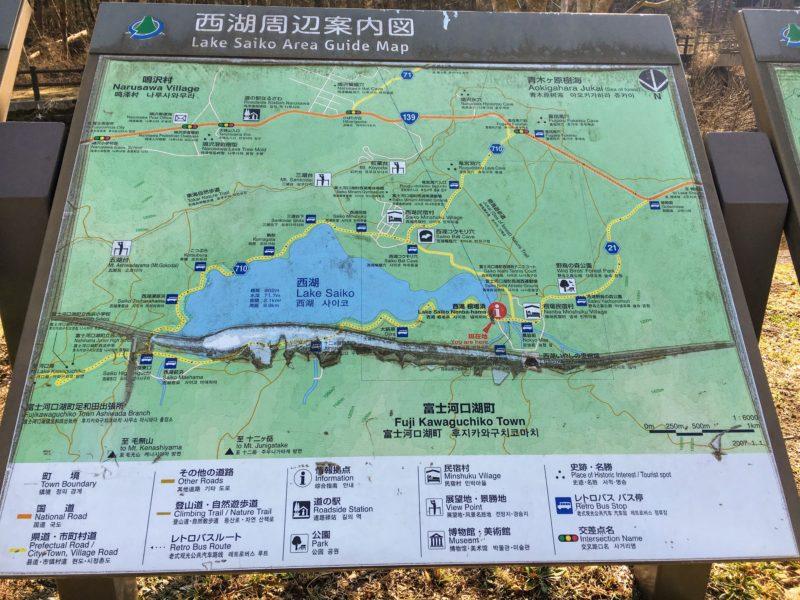 西湖周辺案内図