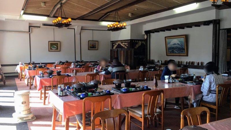河口湖ホテルの朝食スペース