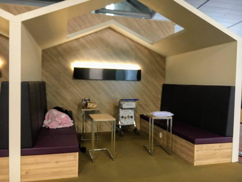 韓国仁川空港の無料仮眠スペース(半プライベート空間)
