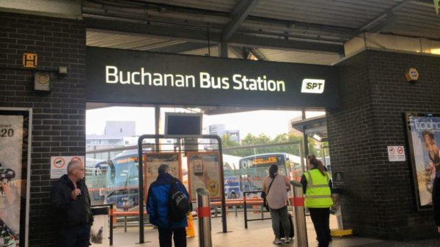 グラスゴーの長距離バス停であるブチャナンバスステーション(Buchanan Bus Station)