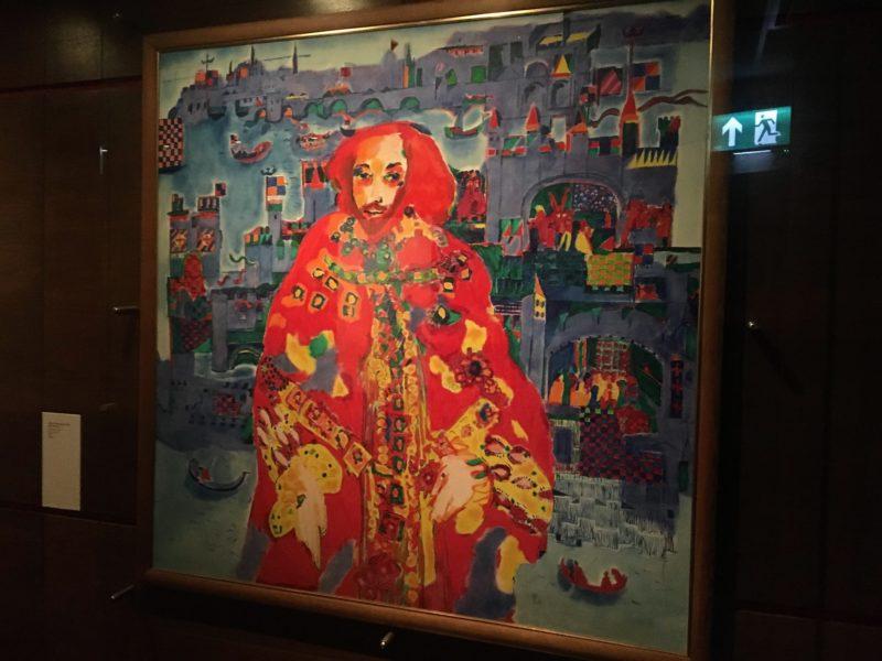 ウィリアム・シェイクスピア関連作品を展示する博物館の内部